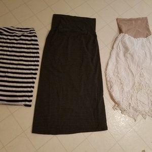3 maternity skirts